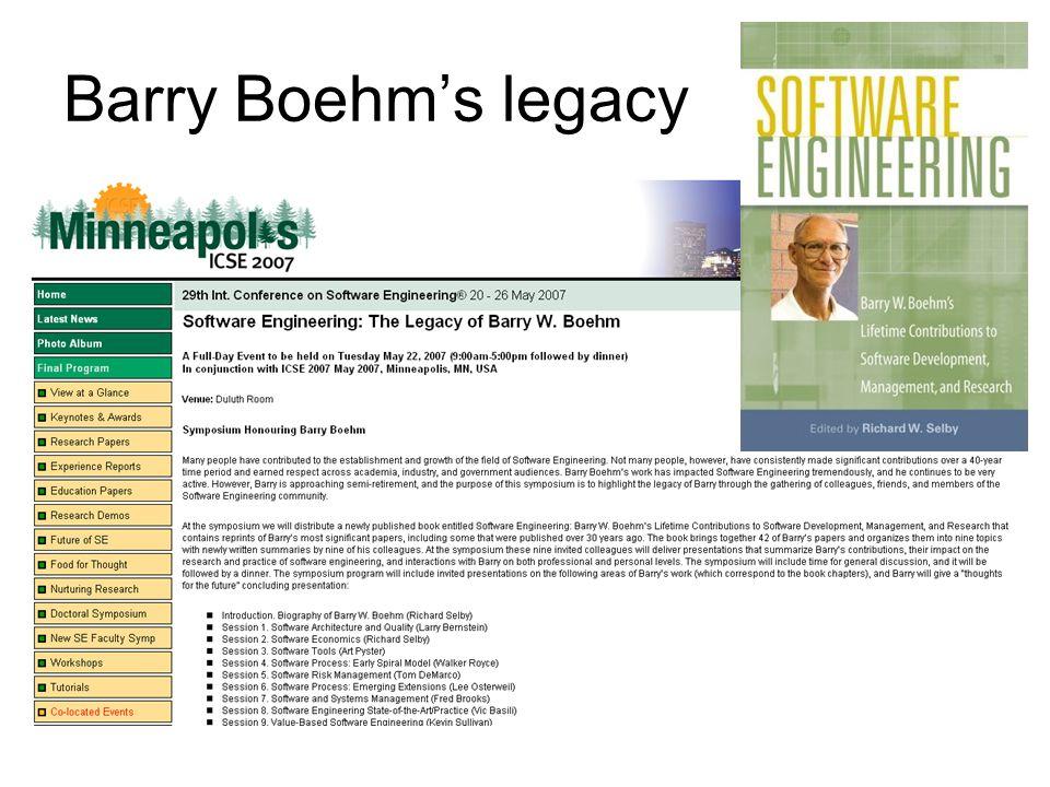A View of 20 th and 21 st Century Software Engineering 1950's Hardware Engineering –Op assembler niveau worden dankzij een ingenieursbenadering goede resultaten geboekt bij luchtvaart- en rakettoepassingen 1960's Software Crafting –De vraag naar software neemt sterk toe.
