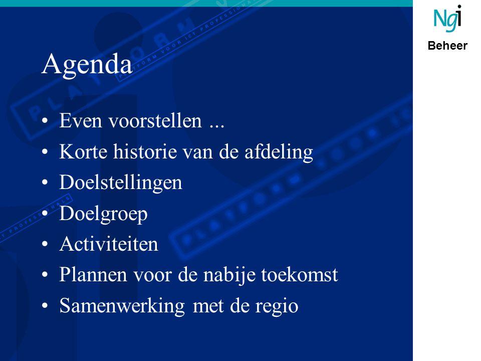 Beheer Agenda Even voorstellen...