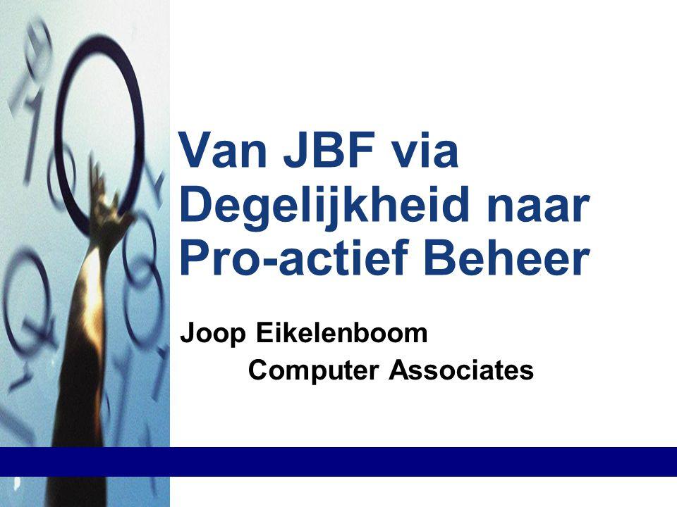 Van JBF via Degelijkheid naar Pro-actief Beheer Joop Eikelenboom Computer Associates Joop Eikelenboom Computer Associates