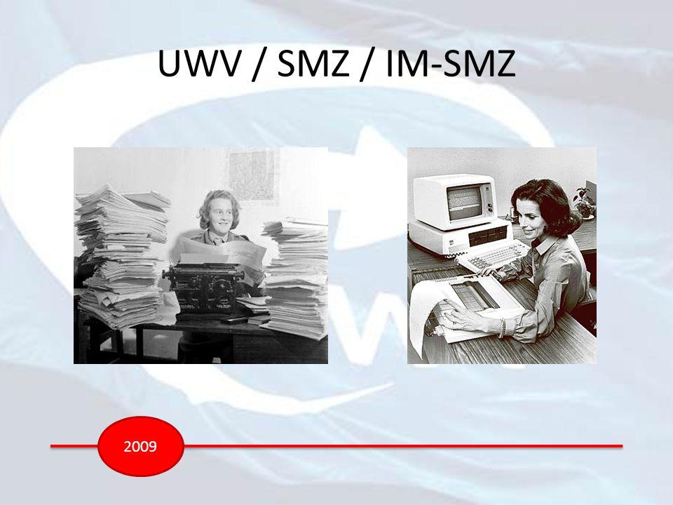 UWV / SMZ / IM-SMZ 2009