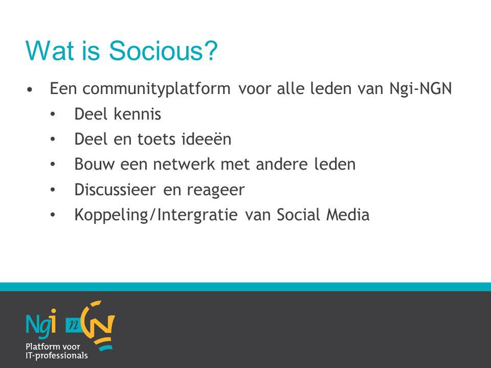 Wat is Socious.
