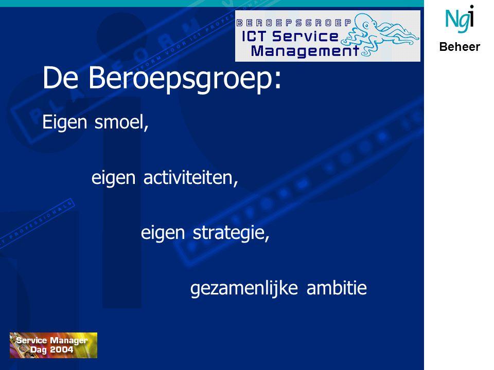 Beheer De Beroepsgroep: Eigen smoel, eigen activiteiten, eigen strategie, gezamenlijke ambitie
