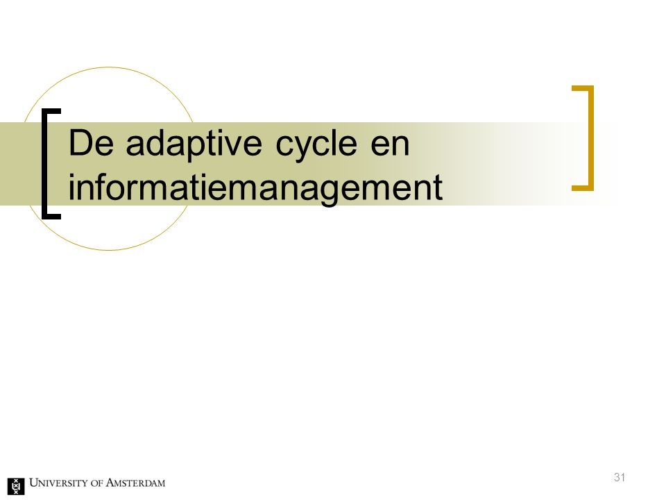 De adaptive cycle en informatiemanagement 31
