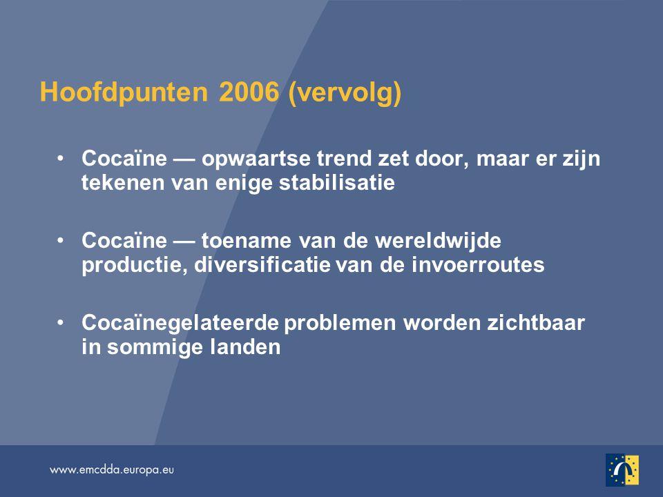 Andere patronen van drugsgerelateerde schade bij vrouwen Het aantal vrouwelijke drugsgerelateerde doden loopt – al naargelang het land – uiteen van 7% tot 35% Verschillen tussen mannen en vrouwen in de trends op het gebied van drugsgerelateerde sterfgevallen Tussen 2000 en 2003 daalde het aantal sterfgevallen door een overdosis onder mannen met 30%, terwijl de sterfgevallen onder vrouwen daalde met ongeveer 15% (EU-15) Uit recente gegevens uit onderzoeken naar ID's in negen EU- landen blijkt een HIV-prevalentie van gemiddeld 13,6% onder mannelijke en 21,5% onder vrouwelijke ID's Hebben de schadebeperkende maatregelen gericht op de risicogroep minder effect op vrouwen dan op mannen?