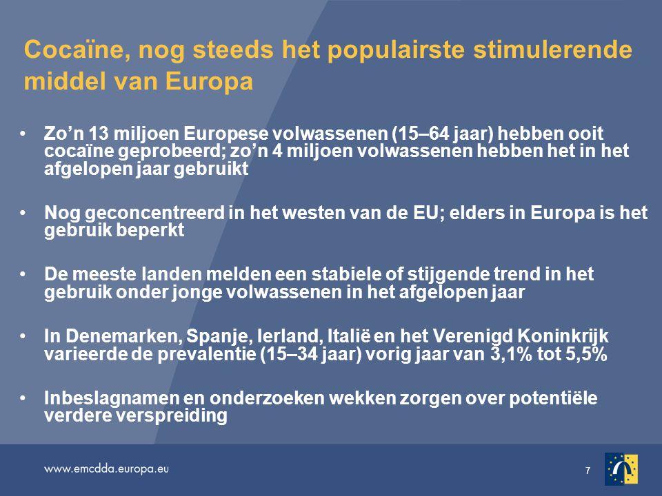 28 Monitoring van het internet Monitoring van het internet — een 'steeds belangrijker element voor het signaleren van nieuwe drugstrends' Een belangrijke handelsplaats voor psychoactieve stoffen In 2009 onderzocht het EWDD 115 onlinewinkels in 17 Europese landen De meerderheid van de websites van onlinehandelaren was geregistreerd in het Verenigd Koninkrijk (37%), Duitsland (15%), Nederland (14%) en Roemenië (7%) Innovaties van de onlinemarkt zijn onder meer de creatie van zich onderscheidende merken en aantrekkelijke verpakkingen, waarvan 'Spice' een goed voorbeeld is