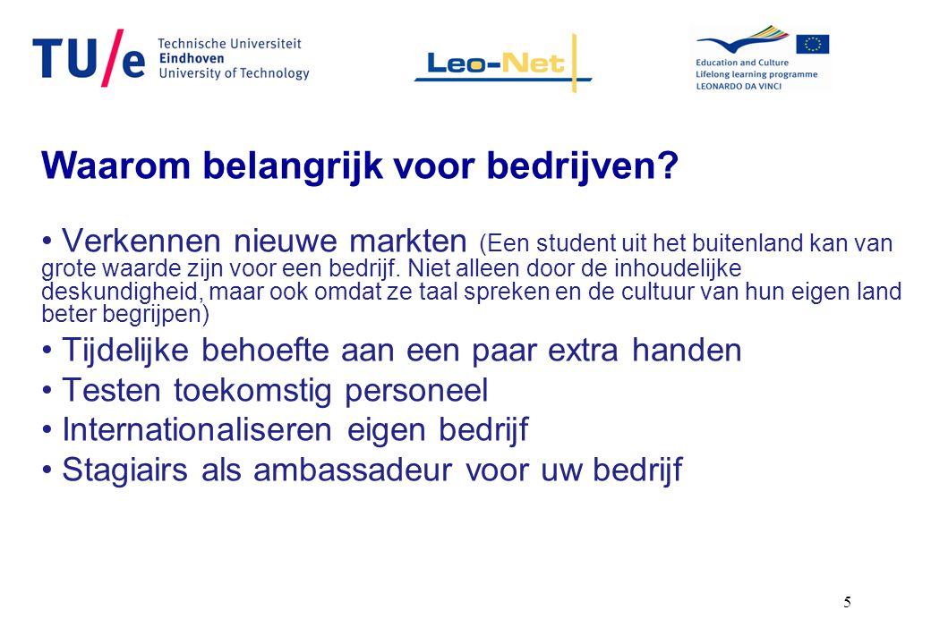 6 QUOTE: Bedrijf: Prodim International BV uit Helmond, Dick Teune, directeur Je moet niet verwachten dat de omzet door de inbreng van een student meteen omhoog schiet, maar je leert wel erg veel over het land waar je zaken mee wilt doen.