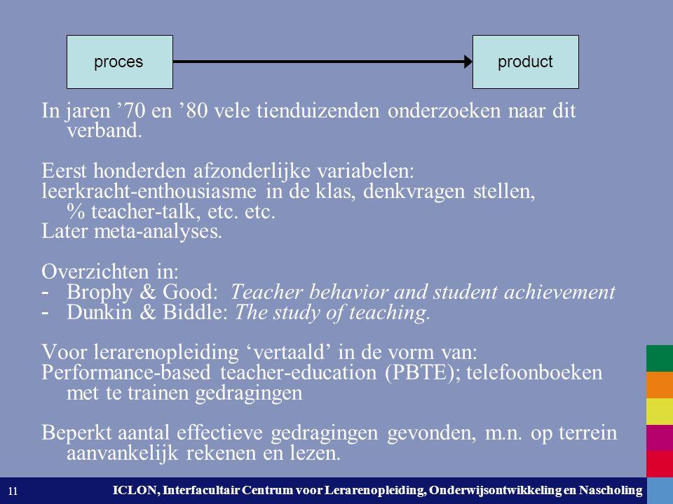 Leiden University. The university to discover. ICLON, Interfacultair Centrum voor Lerarenopleiding, Onderwijsontwikkeling en Nascholing 11 In jaren '7