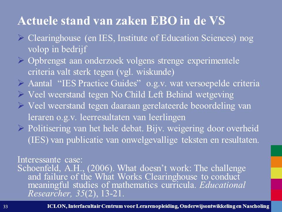 Leiden University. The university to discover. ICLON, Interfacultair Centrum voor Lerarenopleiding, Onderwijsontwikkeling en Nascholing 33 Actuele sta
