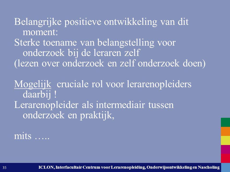 Leiden University. The university to discover. ICLON, Interfacultair Centrum voor Lerarenopleiding, Onderwijsontwikkeling en Nascholing 35 Belangrijke
