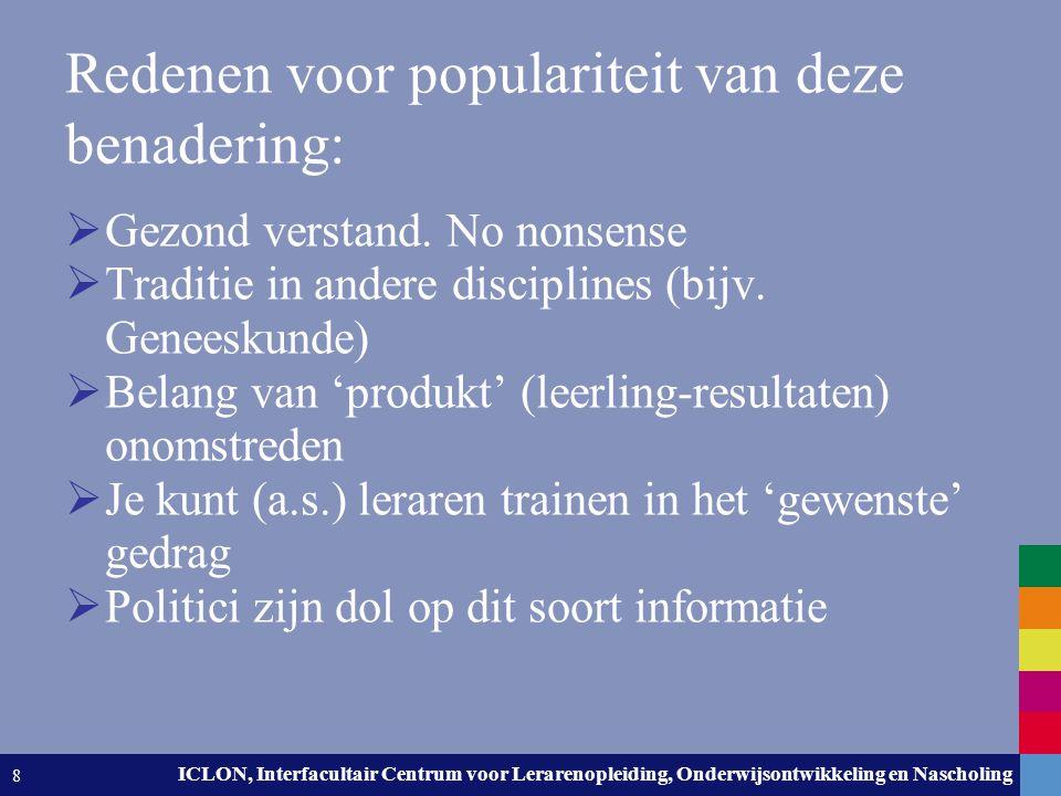 Leiden University. The university to discover. ICLON, Interfacultair Centrum voor Lerarenopleiding, Onderwijsontwikkeling en Nascholing 8 Redenen voor