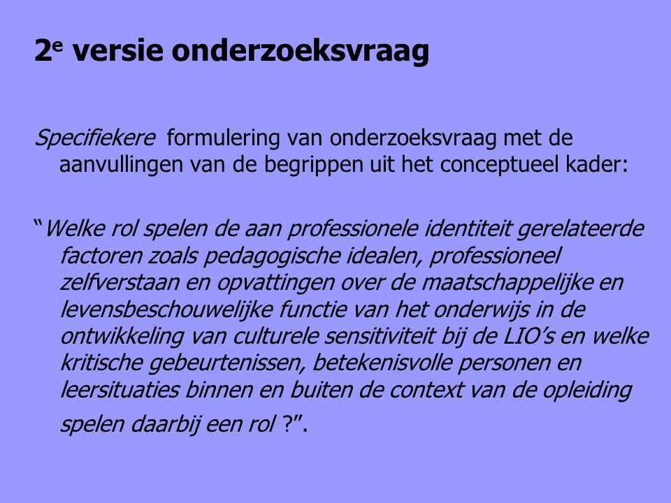 """2 e versie onderzoeksvraag Specifiekere formulering van onderzoeksvraag met de aanvullingen van de begrippen uit het conceptueel kader: """"Welke rol spe"""
