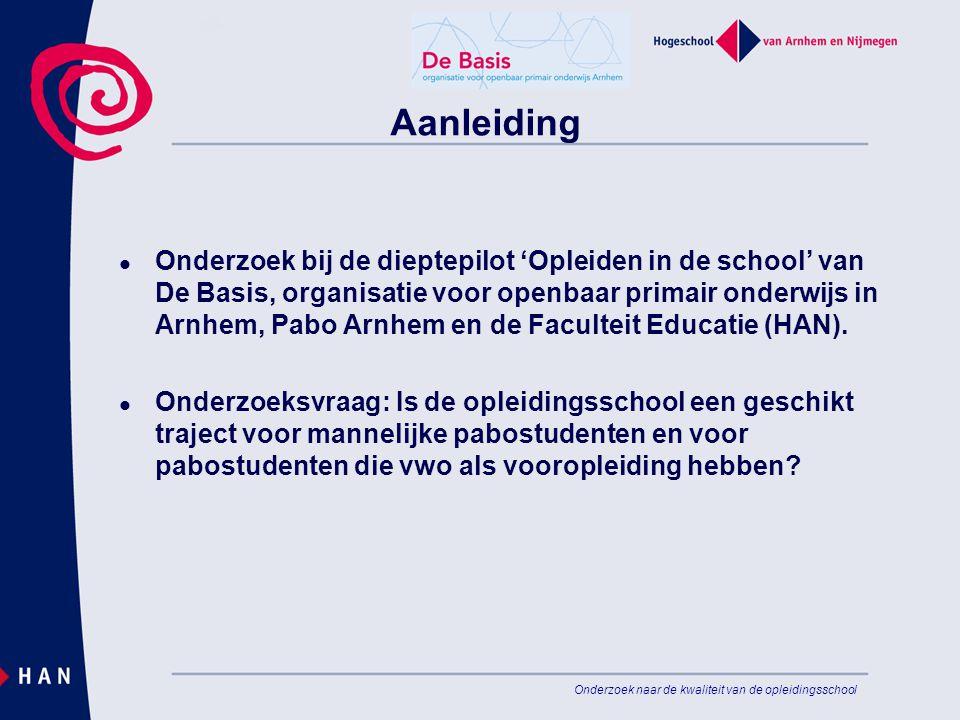 Onderzoek naar de kwaliteit van de opleidingsschool Aanleiding Onderzoek bij de dieptepilot 'Opleiden in de school' van De Basis, organisatie voor ope