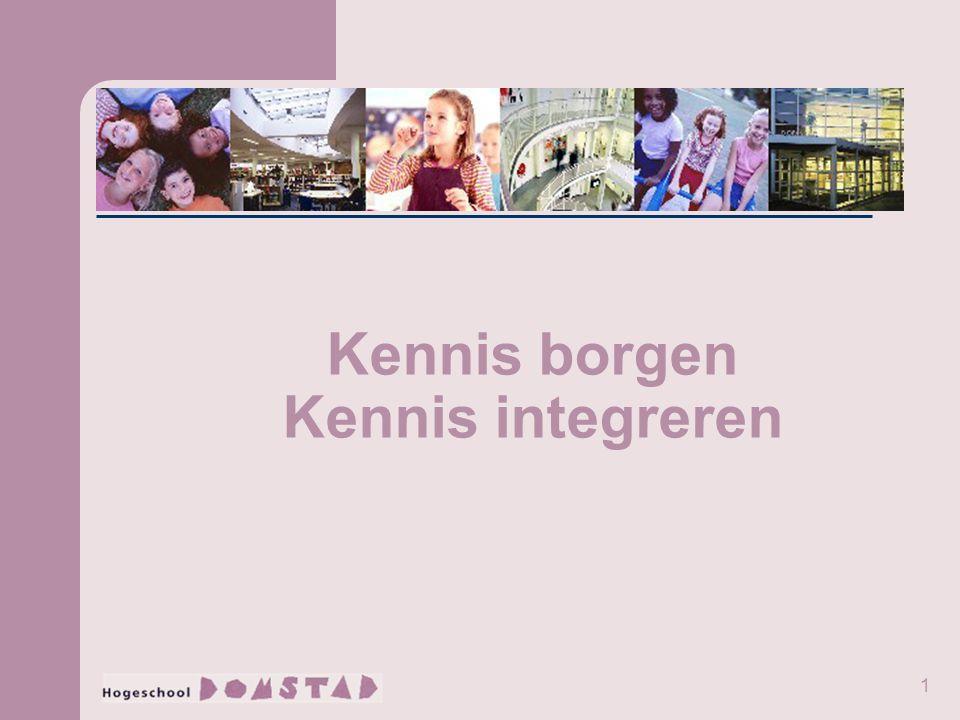 1 Kennis borgen Kennis integreren