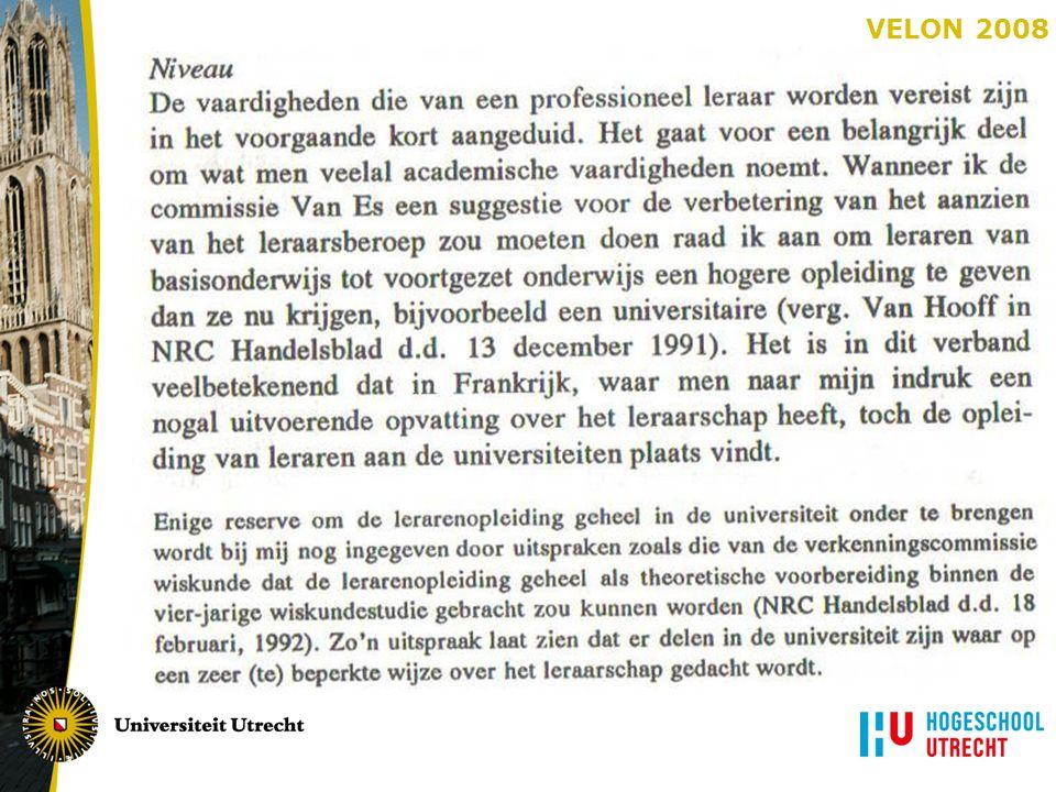 Academische lerarenopleiding primair onderwijs Theo Wubbels Universiteit Utrecht Rachel Streefland Hogeschool Utrecht