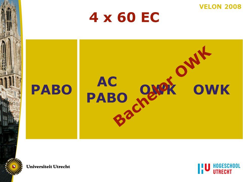 VELON 2008 PABO 4 x 60 EC OWK AC PABO OWK AC PABO OWK Bachelor OWK