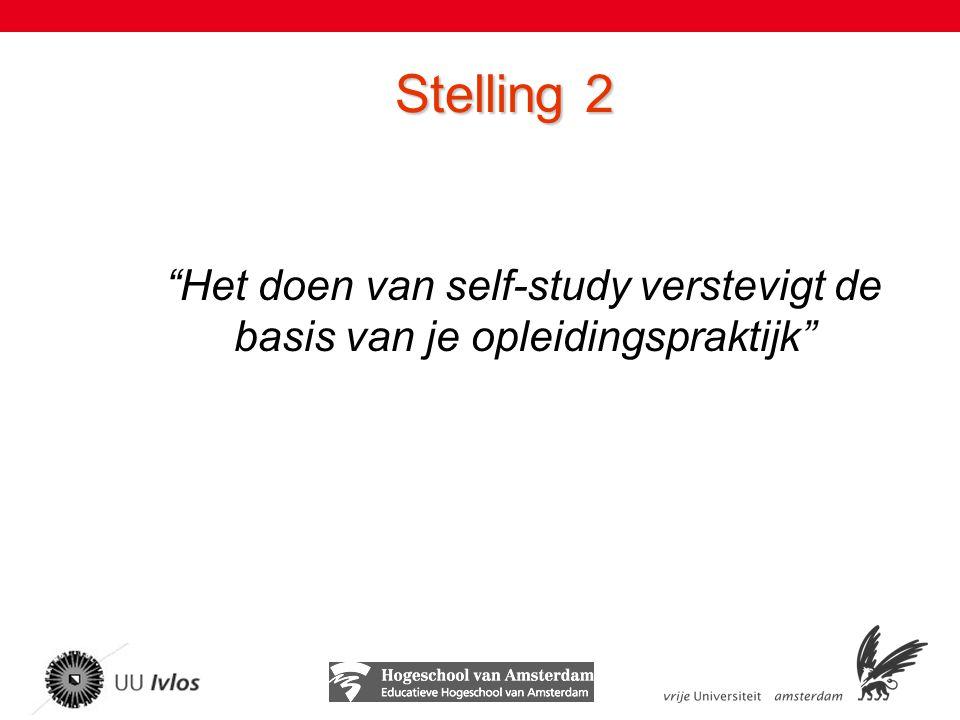 Stelling 2 Het doen van self-study verstevigt de basis van je opleidingspraktijk