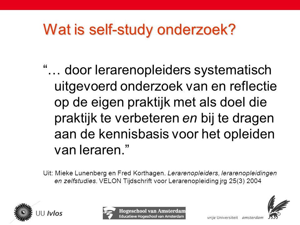 Wat is self-study onderzoek.