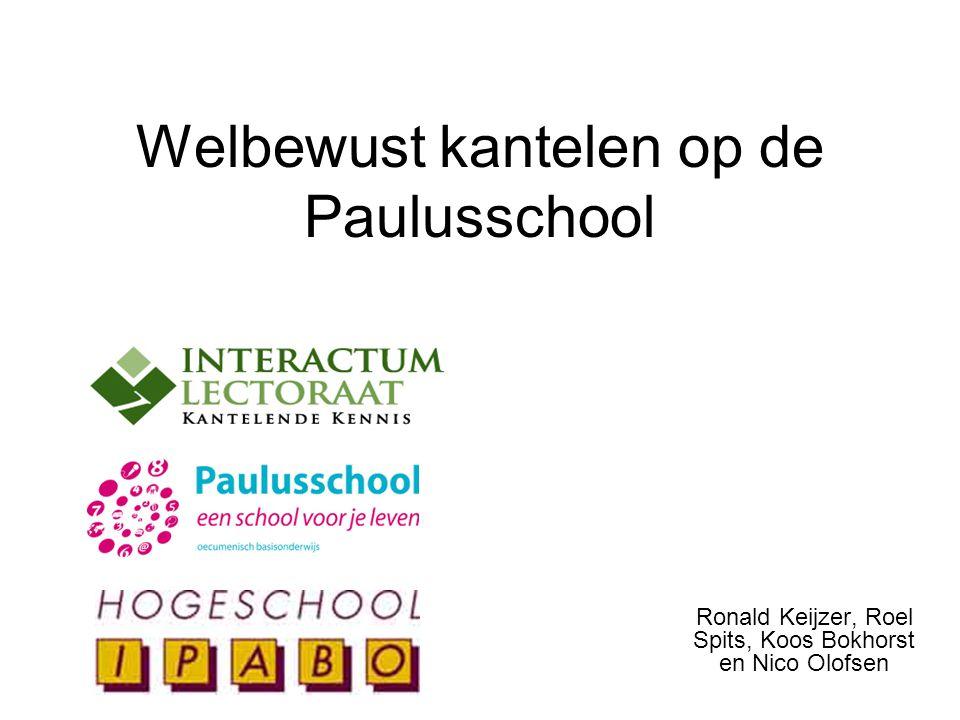 Welbewust kantelen op de Paulusschool Ronald Keijzer, Roel Spits, Koos Bokhorst en Nico Olofsen