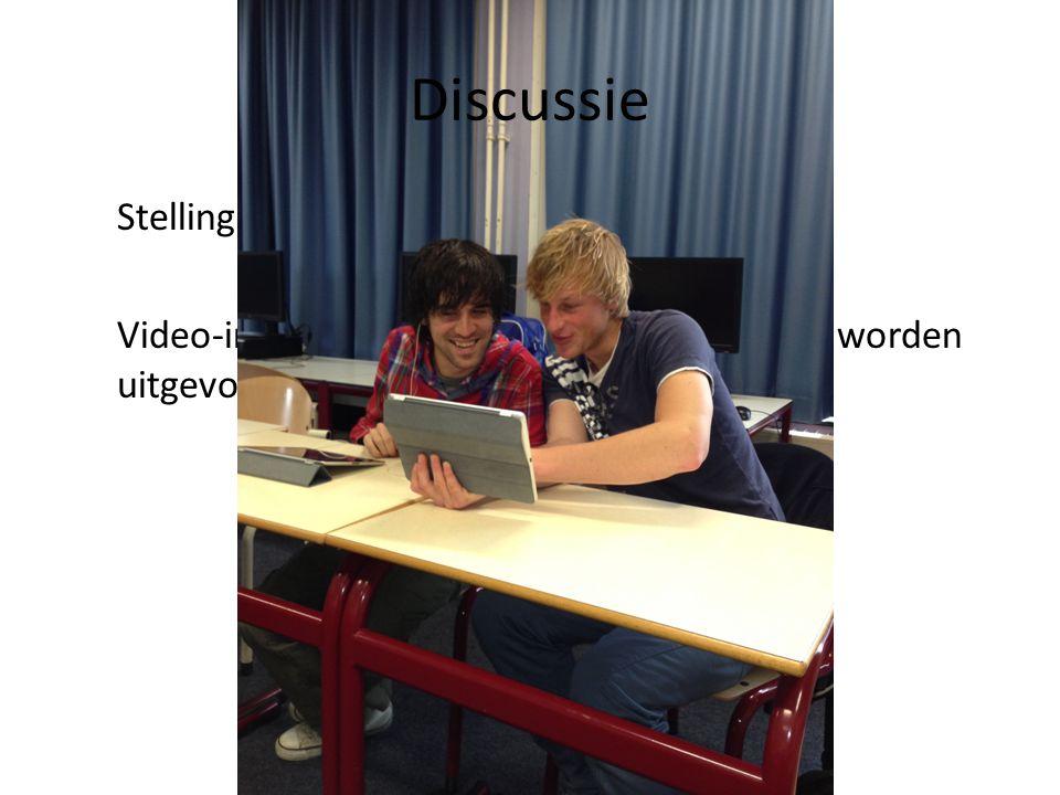 Stelling: Video-interactie hoort volgens de regels te worden uitgevoerd. Discussie
