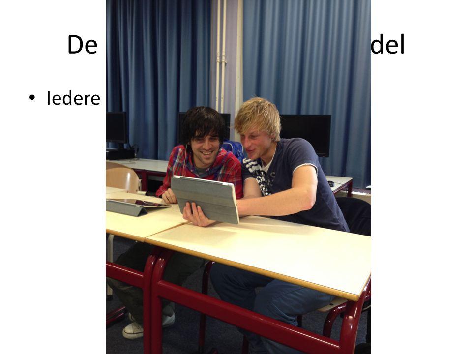 De iPad als didactisch middel Iedere student een tablet/ iPad