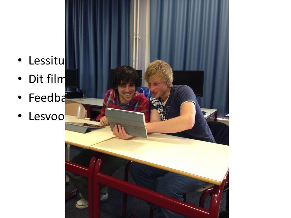 Microteaching Lessituaties oefenen Dit filmen Feedback geven en ontvangen Lesvoorbereiding bijstellen
