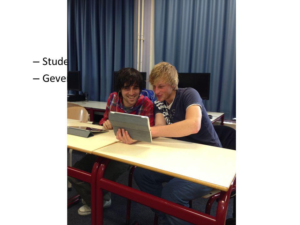 Video-interactie – Studenten bekijken elkaars filmbeelden – Geven elkaar feedback