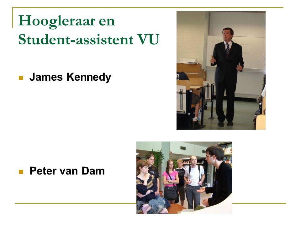 Hoogleraar en Student-assistent VU James Kennedy Peter van Dam