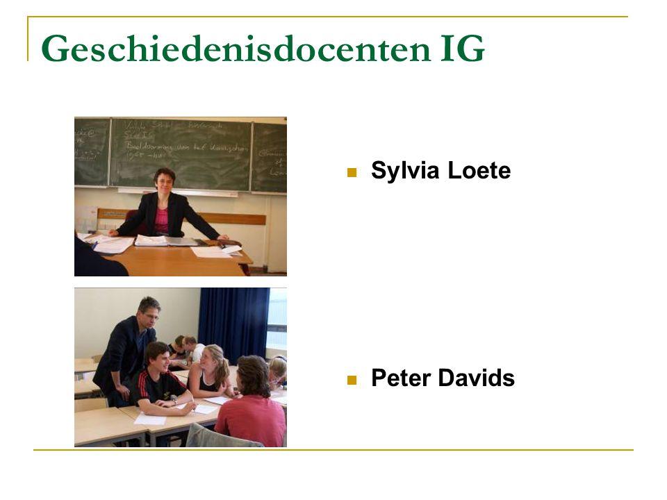 Geschiedenisdocenten IG Sylvia Loete Peter Davids