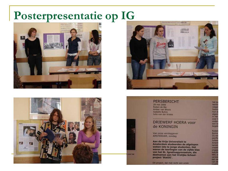 Posterpresentatie op IG