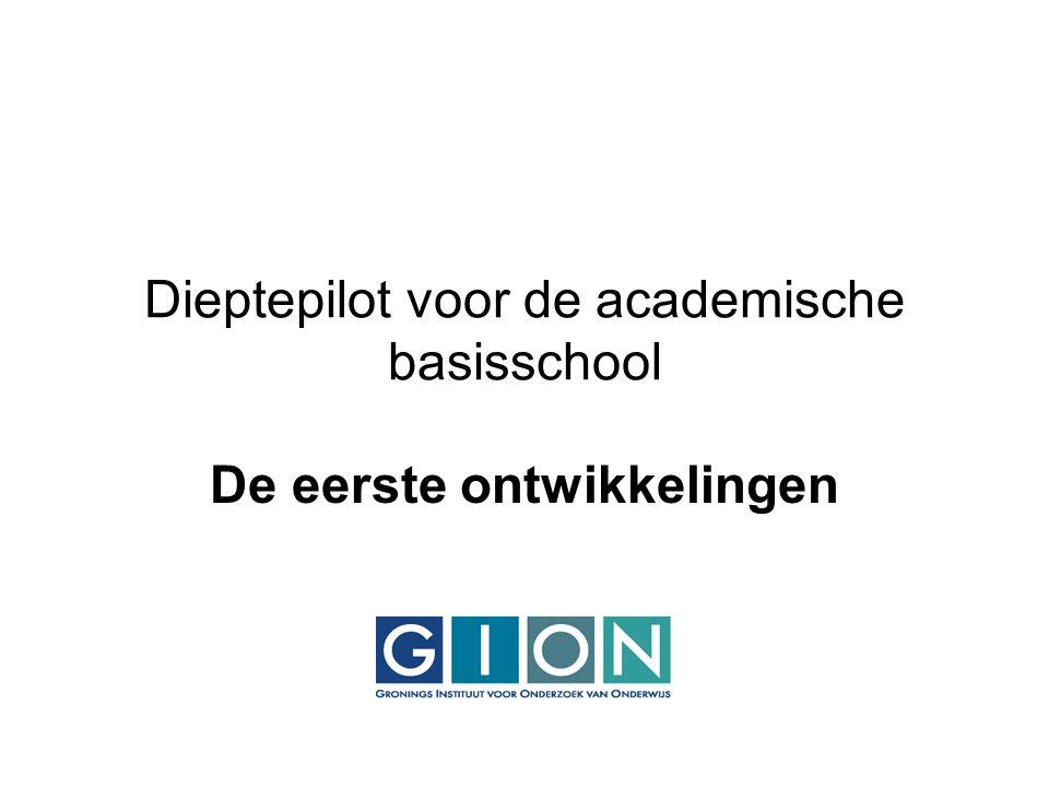 Ontwikkelthema's : Inclusief onderwijs en ICT/blended learning Onderzoek gericht op de ontwikkeling van competenties op het gebied van Inclusief onderwijs en ICT/blended learning
