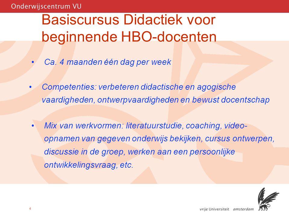 4 Basiscursus Didactiek voor beginnende HBO-docenten Ca.