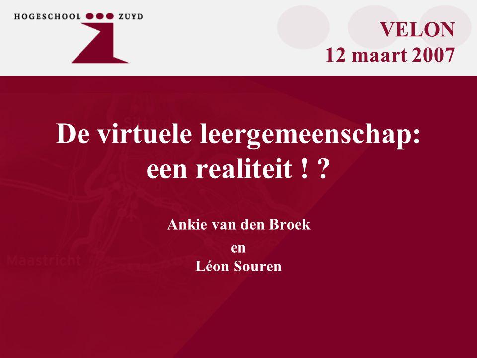 De virtuele leergemeenschap: een realiteit .