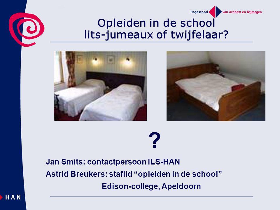 Opleiden in de school lits-jumeaux of twijfelaar.
