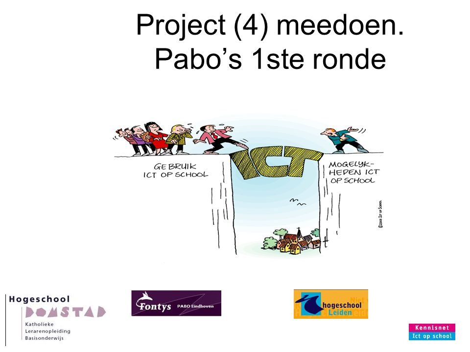Project (4) meedoen. Pabo's 1ste ronde