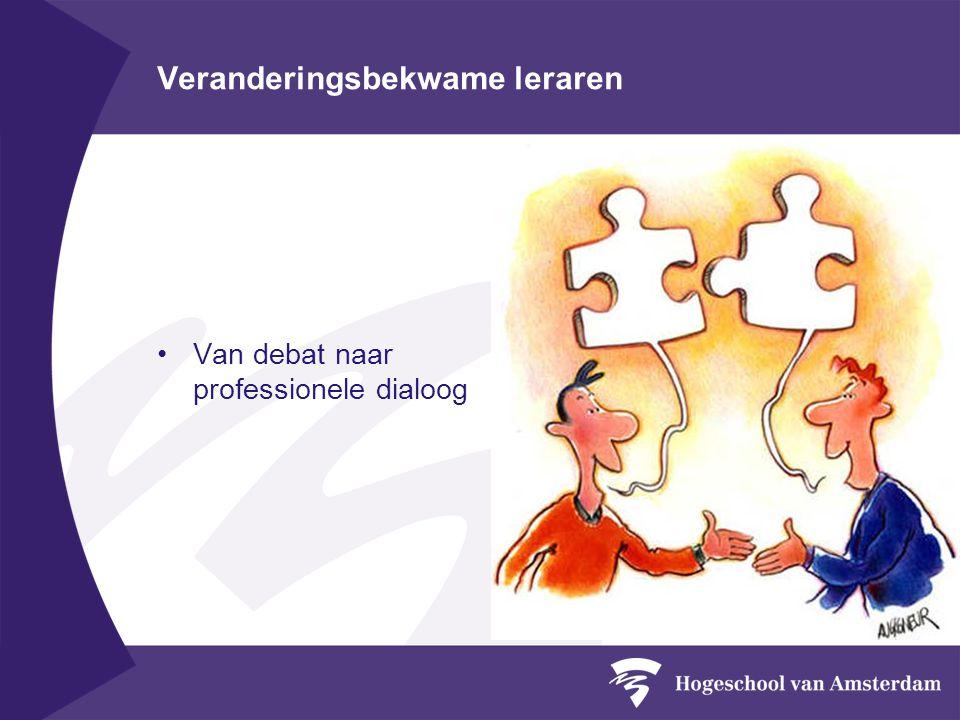 Veranderingsbekwame leraren Van debat naar professionele dialoog