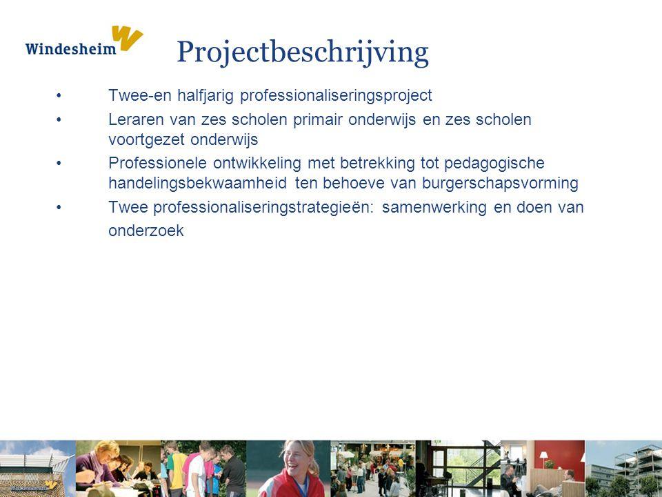 Projectbeschrijving Twee-en halfjarig professionaliseringsproject Leraren van zes scholen primair onderwijs en zes scholen voortgezet onderwijs Profes