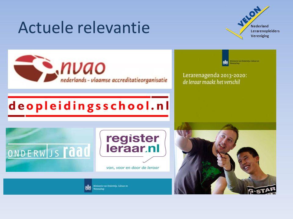 Actuele relevantie Nederland Lerarenopleiders Vereniging