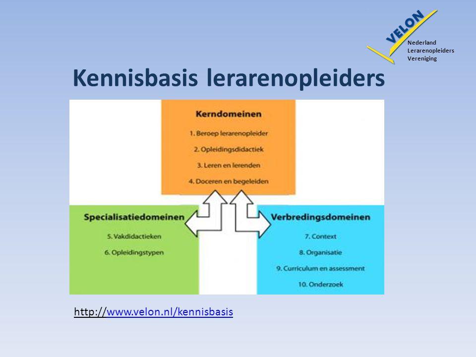Kennisbasis lerarenopleiders Nederland Lerarenopleiders Vereniging http://www.velon.nl/kennisbasiswww.velon.nl/kennisbasis