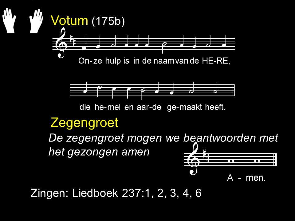 Gezang 104: 1c, 2c, 3a, 4c, 5a, 6c, 7a, 8a Dit is het uur dat wij verstaan: God vuurt ons met zijn Adem aan.