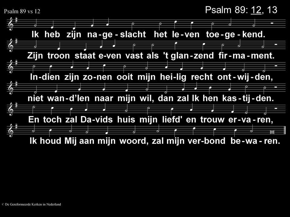 Psalm 89: 12, 13