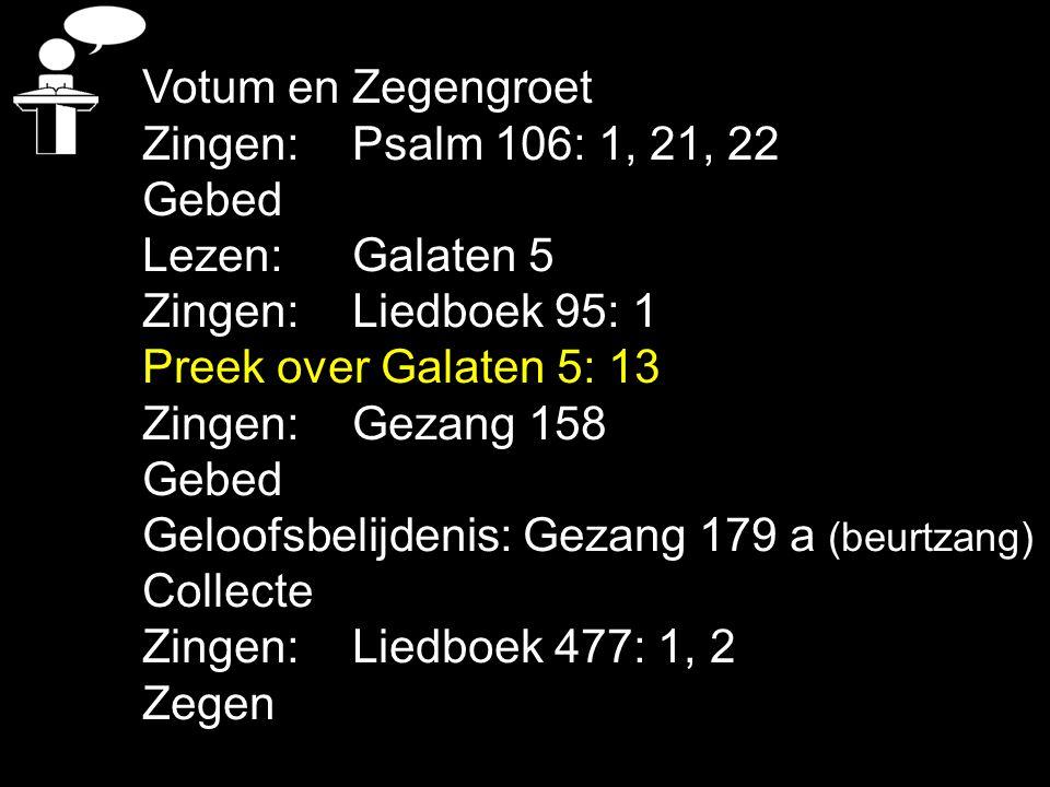 Tekst: Galaten 5: 13 VRIJHEID: - geroepen - kostbaar - niet onderworpen - gewend - kwijtraken