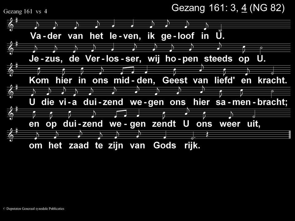 COLLECTE Volgende week Is de collecte voor de Kerk Na de collecte zingen we: Gezang 164 in canon Bloemenbezorging: Vandaag: Johan Marsman Volgende week: Rens de Wolf Collectemunten nodig.
