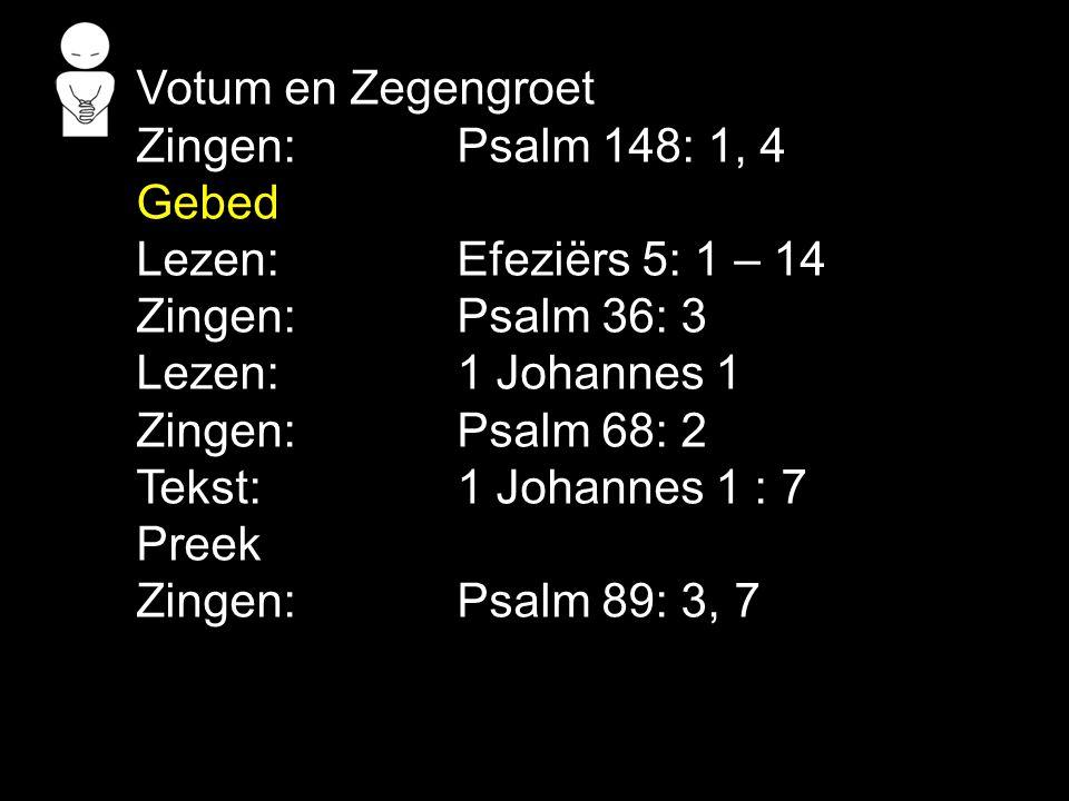 Gezang 134: 1, 2, 6 (GK 39) O Vader, dat uw liefd ons blijk , o Zoon, maak ons uw beeld gelijk, o Geest, zend uwen troost ons neer.