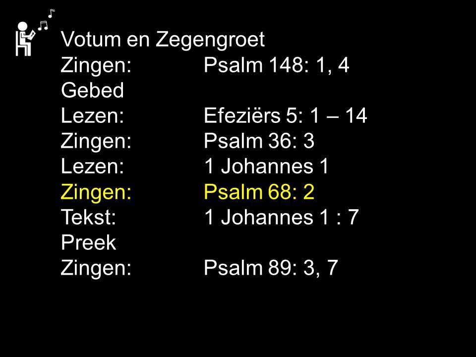 Liedboek 462: 1, 2, 3, 4 Ontwaak, gij die slaapt en sta op uit de doôn, en Christus zal over u lichten.