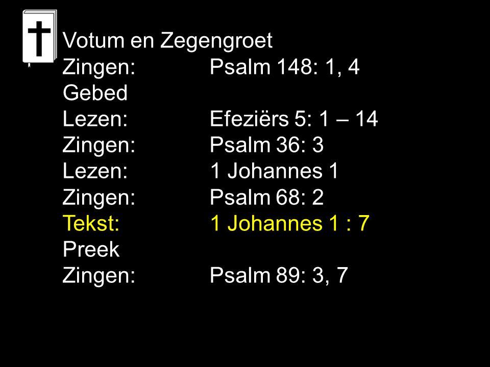Tekst: 1 Johannes 1 : 7 Wandelen in Gods licht verenigt Het licht is 1.