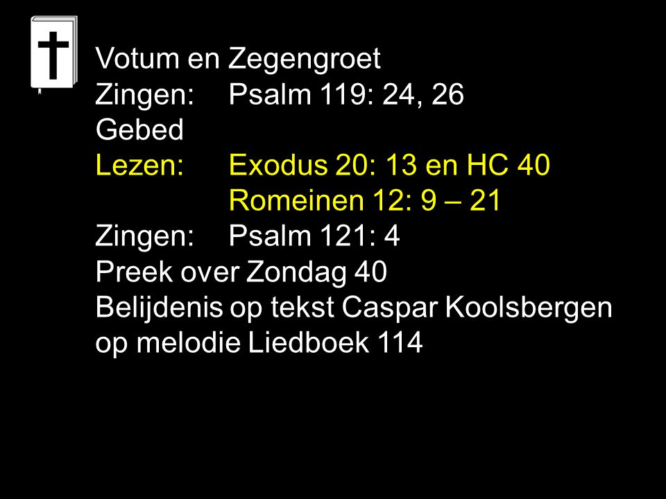Gezang 135: 1, 2 (NG 71) Stilte over alle landen In deze nacht.