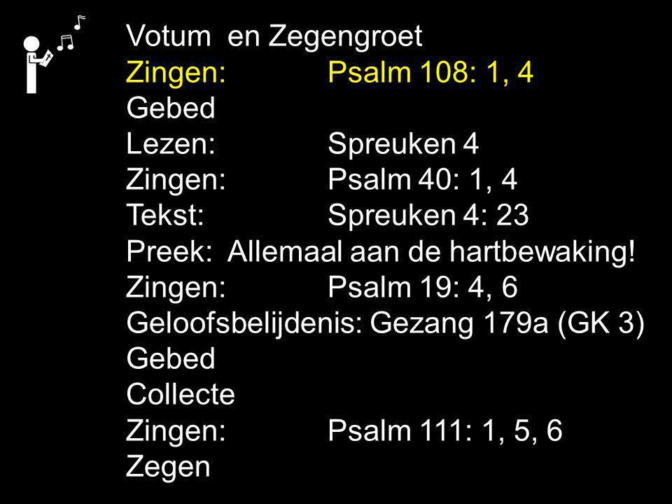 COLLECTE Vandaag: de 1e collecte is voor de Diaconie De Driehoek de 2e collecte is voor de Evangelisatie E&Rprojekt Volgende week: de 1e collecte is voor de Diaconie De Driehoek de 2e collecte is voor de kerk Na de collecte zingen we: Psalm 111: 1, 5, 6