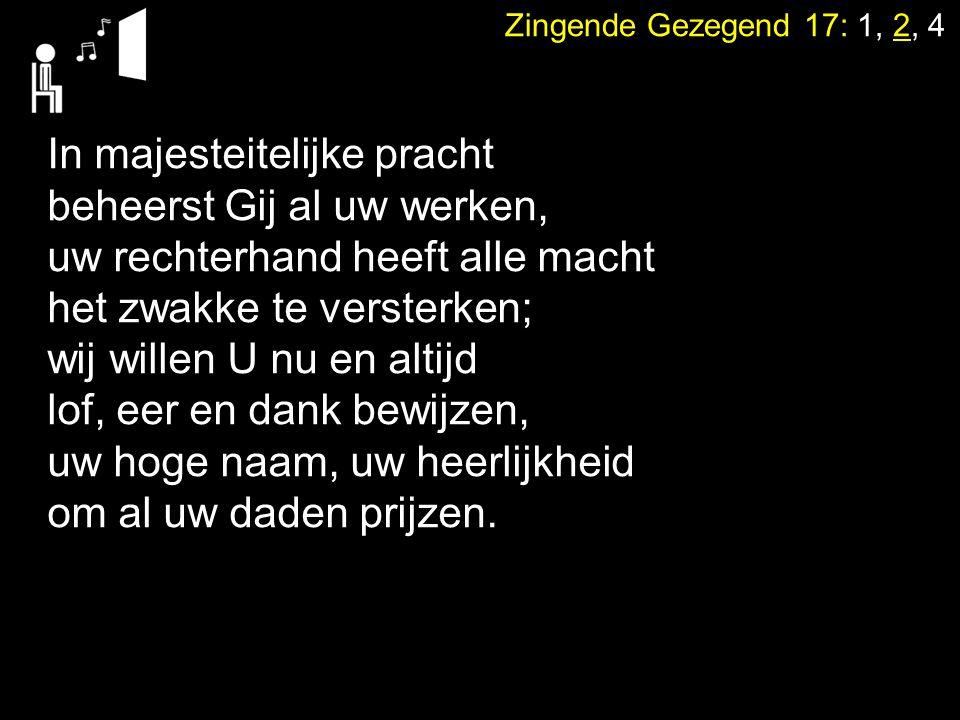Dienst van het dankoffer Collecte Zingen:Psalm 103: 1, 9 (staande) Zegen (staande)