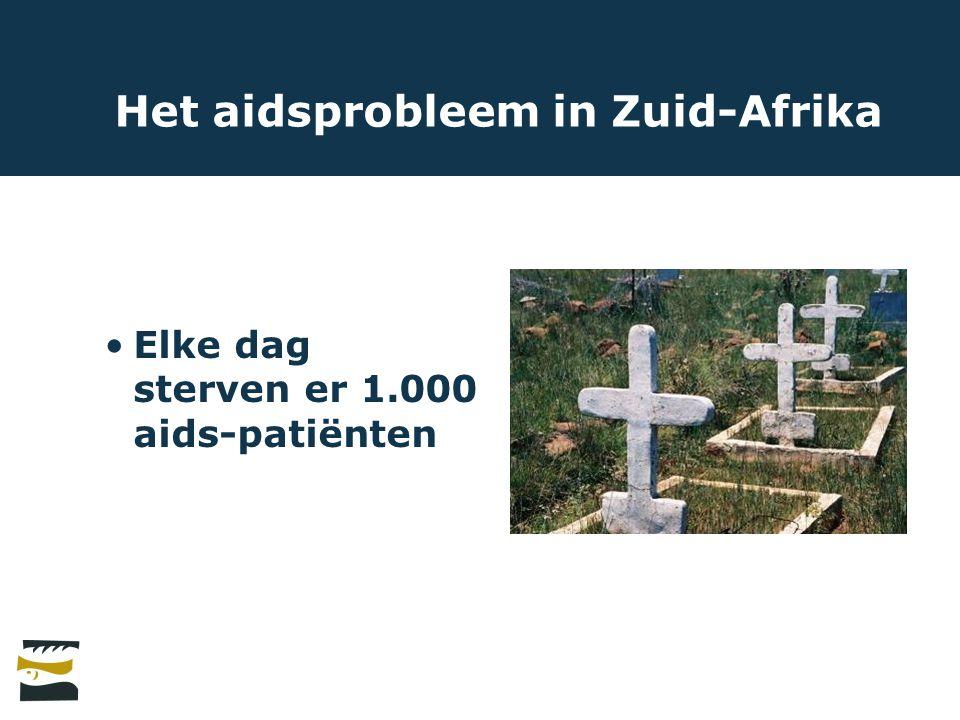Het aidsprobleem in Zuid-Afrika Elke dag sterven er 1.000 aids-patiënten