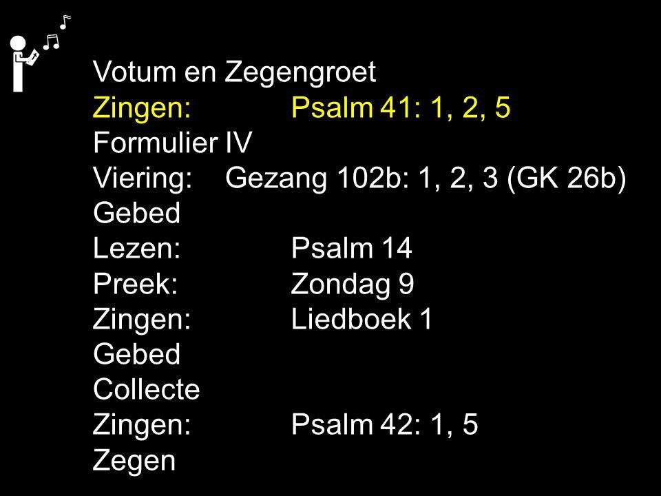 Gezang 102b: 1, 2, 3 (GK 26b) Looft de Geest, Hij zal niet wijken van de kerk, met bloed gekocht.
